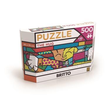 Imagem de Quebra-Cabeça Puzzle 500 Peças - Panorama Romero Britto The Hug - Grow