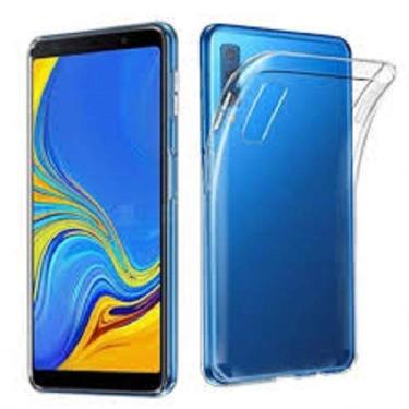 Capinha e Pelicula de Vidro Samsung Galaxy A7 2018 -A750 (Capa Fumê)