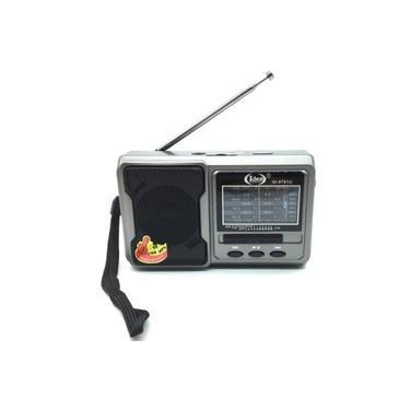 Radio Recarregavel Portatil Am Fm Usb Tf Player Radinho Com Lanterna E Alca Para Transporte Bivolt