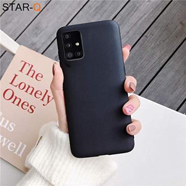 Capa A31 Samsung Galaxy TPU emborrachada ultra fina (Preto)