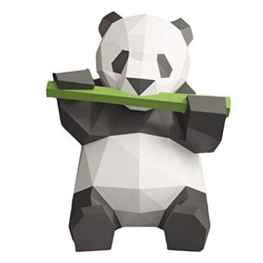 """NUOBESTY Kit de montagem de papel 3D, animais de papel, panda origami, modelo de papel criativo, artesanal, brinquedo """"faça você mesmo"""" para crianças - iridescente"""