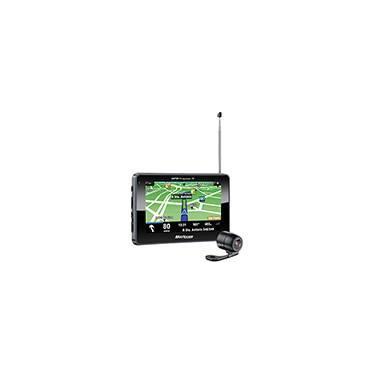 """GPS Automotivo Multilaser Tracker III Tela 4,3""""  com TV Digital e Câmera de Ré"""