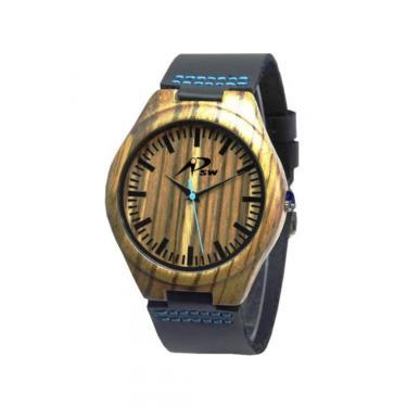12589c4da8a Relógio Psw Analógico Madeira Psw2 Pt masculino