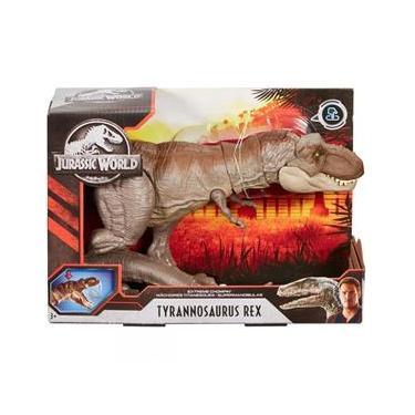 Dinossauro E Personagem Jurassic World Mordida Feroz - Mattel