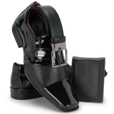 92d4dfcaff Sapato Social Couro Top Franca Shoes Preto masculino · R  79