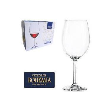 Jogo De Taca De Cristal Para Vinho Tinto Com 6 Unidades 580ML