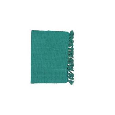 Imagem de Kit Jogo Americano Tecido Verde Tiffany C/ Fio Prata C/4 Uni