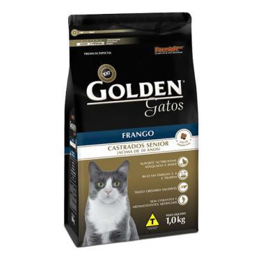 Ração Seca PremieR Pet Golden Gatos Castrados Sênior Frango - 1 Kg
