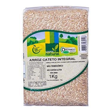 Arroz Cateto Integral Orgânico Coopernatural 1kg