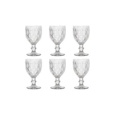 Imagem de Taça de Vidro New Diamond Transparente 6 peças 290ml Bon Gourmet
