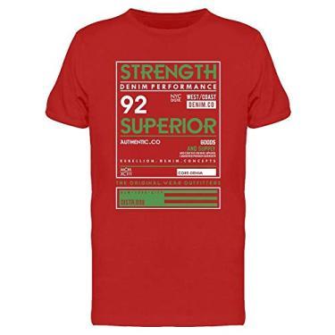 Imagem de Camiseta masculina Strenght Denim Performance, Vermelho, XXG