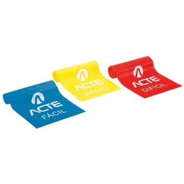 Látex Band - Kit com 3 faixas diferentes níveis 1,50 x 12 cm - ACTE Sports - Vermelho