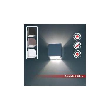 Arandela 2 fachos Externa E Interna Para Lâmpada G9 Alumínio - Branca - Lcg