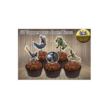 Monster Hunter World 50 Topper Tags Apliques P/ Doce Mod.02