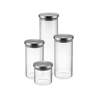 Jogo de Potes de Vidro Hermético Electrolux - com Tampa Redondo A18848