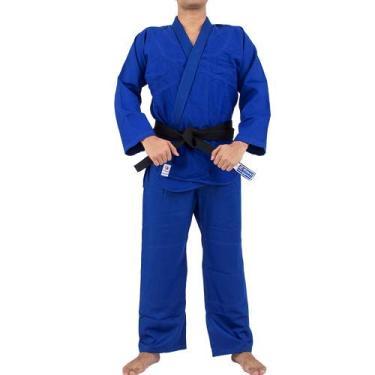 Kimono Trançado Training Judô/Jiu-Jitsu Torah - Azul