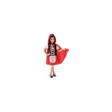 Imagem de Fantasia infantil Chapeuzinho Vermelho vestido com capa