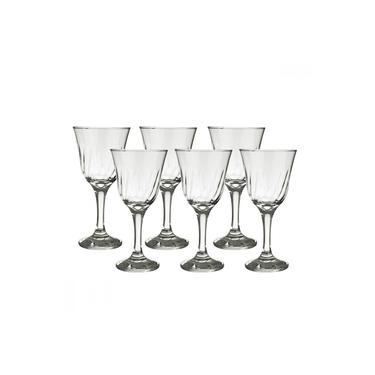 Jogo de Taças para Vinho em Vidro 250ml Nadir Lírio 6 Peças