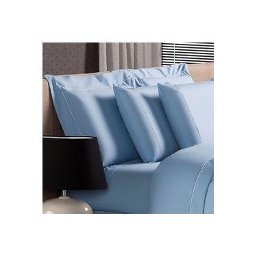 Imagem de Fronha Avulsa Plumasul Premium Clean 230 Fios 50x90cm Azul