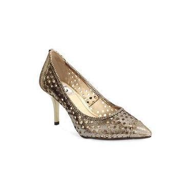 Sapato Feminino Dot Champagne Miucha Bronze