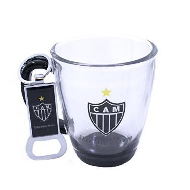 Jg Com Uma Caneca De Vidro E Um Abridor De Garrafas 370ml - Atlético Mineiro 50bd7aadc9d4c
