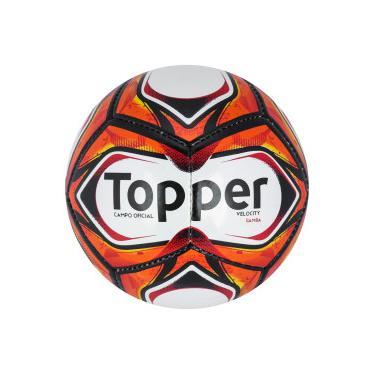 21d2a5fd6c Bola de Futebol de Campo Topper Samba Velocity TD2 2018 - BRANCO VERMELHO  Topper