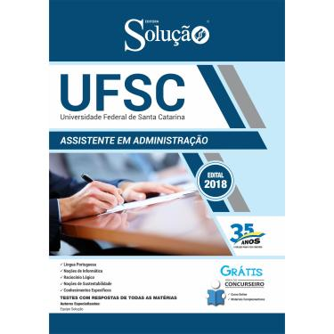 Imagem de Apostila Concurso UFSC 2019 - Assistente em Administração