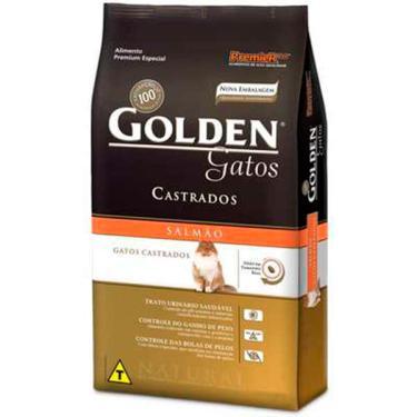 Ração Seca PremieR Pet Golden Salmão para Gatos Adultos Castrados - 3 Kg