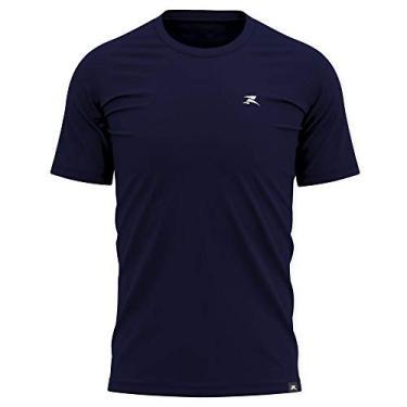 Imagem de Camiseta Algodão Basic - Masculino - Muvin - SS - CSC-1100 (Azul Marinho, M)