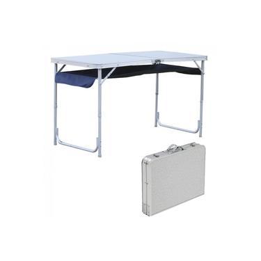 Mesa Dobravel em Aluminio Que Vira Maleta para Camping Top Nautika