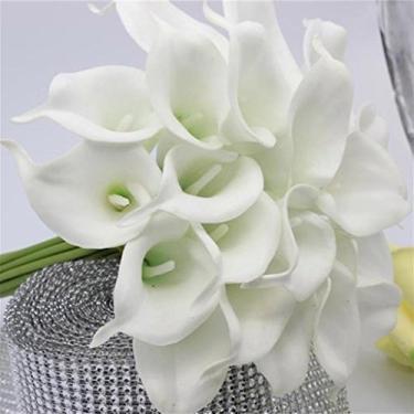 Goodqueen 10 peças de buquê de flores artificiais com toque real, decoração para casamento, festa, casa