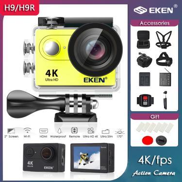 """Original eken h9r/h9 ultra hd 4k/30fps câmera de ação wifi 2.0 """"170d subaquática 30m à prova dveágua"""