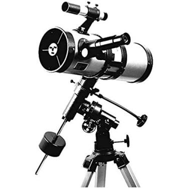 Imagem de GJNVBDZSF Telescópio Telescópio Equatorial Telescópio Refletor para Observar Estrela/LUN/Saturn/Júpiter