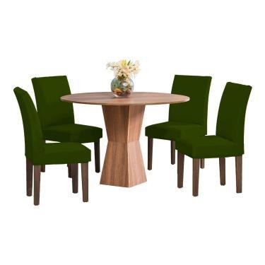 Kit 6 Capas Para Cadeira Jantar Malha Com Elástico Verde