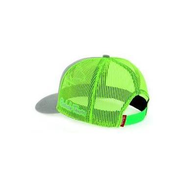 Boné Radade Cinza com Tela Verde Limão - 7635 5e5d8fd415d