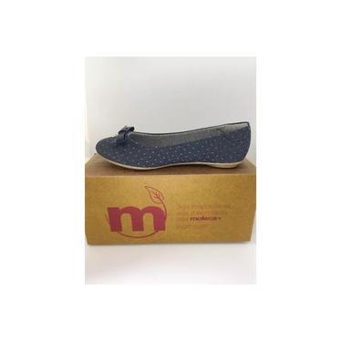 Sapato Moleca Feminino Jeans Poa Eco Marinho 5685