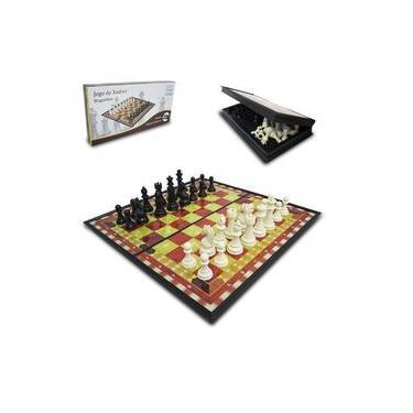 Jogo De Xadrez Tabuleiro Dobrável Magnético Numerado 19,5x19,5x3cm Casita Im42021ly-1