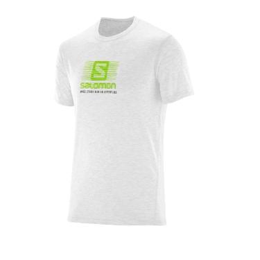 Camiseta Running Ss Tee M Branco Salomon Egg