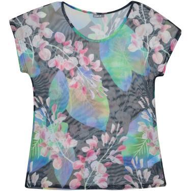 Imagem de Camiseta Manga Curta Oxer Tule Estampada - Feminina Oxer Feminino