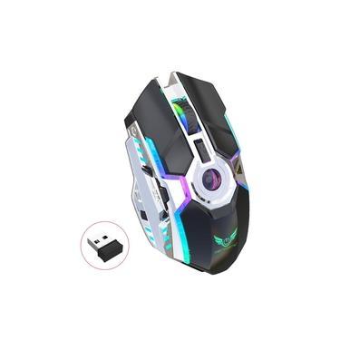 ZERODATET30 Universal 2.4G Mouse Óptico Sem Fio para Jogos,Mouse Ergonômico Recarregável Com Luz