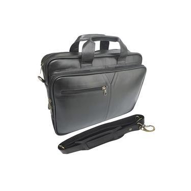 "Pasta maleta executiva para notebook 17"" Couro Vastigriff 4018 Preta"