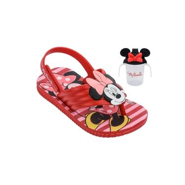 Sandália Infantil Disney Grendene Kids Mickey E Minnie Copinho - Vermelho