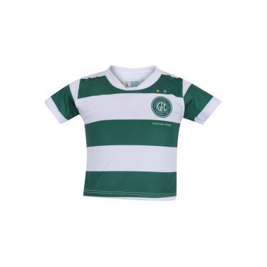 Kit de Uniforme de Futebol do Guarani para Bebê  Camisa + Calção - Infantil  - 3f321d2554790