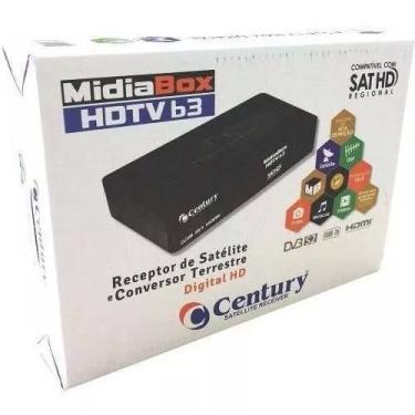 Receptor Century MidiaBox HDTV B3 com Entrada HDMI RCA e USB  Bivolt