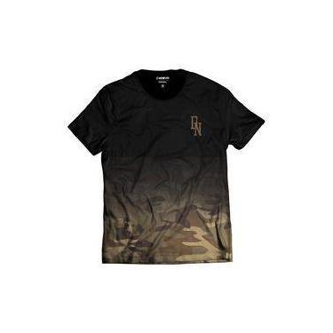 Camiseta Camuflada Marrom Street Wear Di Nuevo DN Degradê d54cdd0c265fa