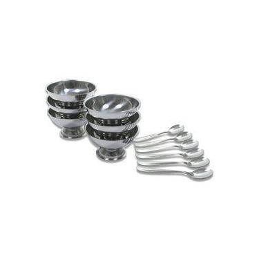 Imagem de Conjunto Para Sobremesa 12 Peças Jogo de Taças Aço Inox