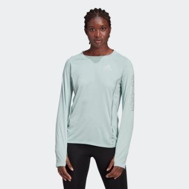 Camiseta Manga Longa Refletiva Mulher PP adidas