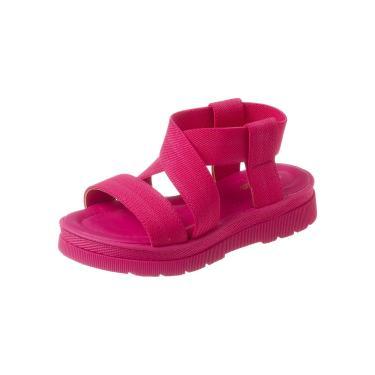 Sandália Tininha Flatform Elástico Pink  menina