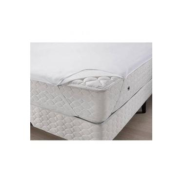 Imagem de Protetor de Colchao Casal Protege Plus Impermeavel Branco Santista