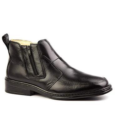Botina Masculina 916 em Couro Floater Preto Doctor Shoes-Preto-39